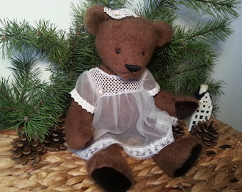 Handmade teddy bear, Ann - 30 cm high mohair bear, OOAK artist teddy bear,