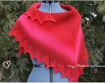 A knitted shawl.