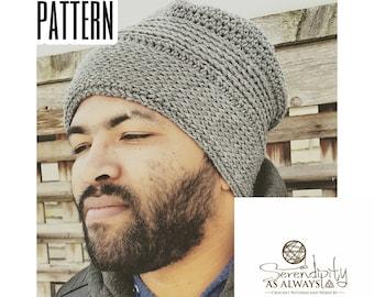 Crochet PATTERN | Men's Hat Crochet Pattern | Boy's Hat Crochet Pattern | Crochet Pattern for Men | His Knittish Slouch Beanie PDF Pattern
