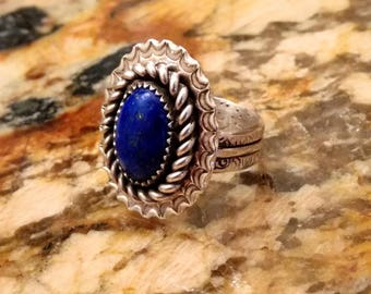 Blue Moon (Sterling Silver & Lapis Lazuli)