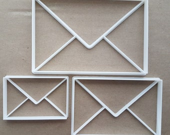 Envelope Post Package Shape Cookie Cutter Dough Biscuit Pastry Fondant Sharp Stencil Mail Letter Mailbox Postman Mailman Email Icon