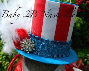 Circus Ringmaster Top Hat Fascinator Top Hat for Birthdays  Mini Top Hat Hair Accessory