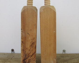 Vintage Wooden Industrial Double Threaded Supplies Vintage Home and Living Wooden Decor Supplies Indoor Outdoor DIY Vintage Wood Supplies