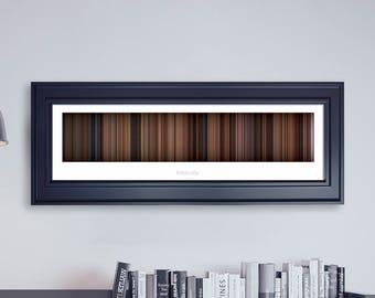 Ratatouille // Movie Poster // Movie Barcode // Pixar Print // Wall Decor // Panoramic