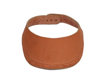 All Leather Sun Visor Cap