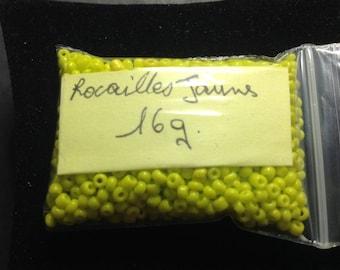 16G yellow seed beads