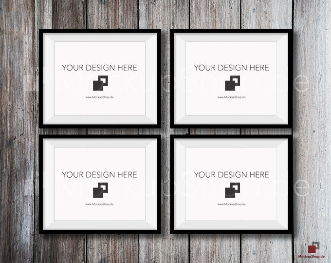 "FRAME MOCKUP BLACK, 8x10"", 4x verticalL Black Mockup, Photo Mockup Frame, Vertical Frame Mockup in Black digital download Black Frame Mockup"
