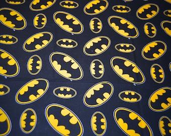 DC Universe Batman Comic Logo Fat Quarter 18in X 22in