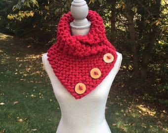 Cranberry Knit Collar