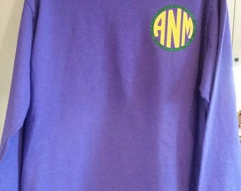 Mardi gras shirt/girls/womens