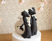 Skunk Wedding Cake Topper by Bonjour Poupette