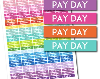 Pay Day header stickers Pay Day planner stickers Pay Day printable stickers Pay Day stickers Header stickers Planner header stickers STI-186