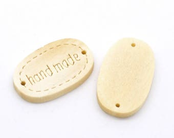 """set of 10 buttons or """"hand made"""" wood connectors"""