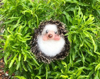 Needle felted Hedgehog, wool sculpture,  gift, home deco
