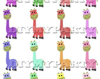 Printable party decor giraffe Clip Art giraffe clipart Birthday decoration pdf digital birthday prty diy scrapbooking favor tag (270)