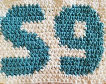 FREE Sample S9 pattern, single crochet, crochet blanket, crochet pattern, crochet throw, blanket, PDF