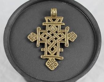 Ethiopian Coptic Cross 52X42mm, Coptic Pendant, Ethiopian Cross, Religious Pendant