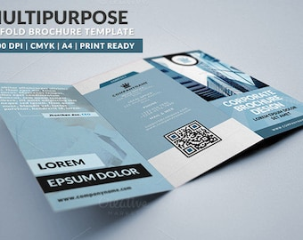 Multipurpose Trifold Brochure | PSD Template | Instant Download
