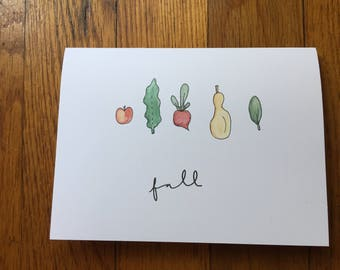 seasonal veggie greeting cards