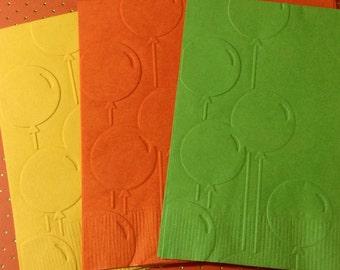 Birthday Napkins ~ Embossed Paper Napkin ~ Birthday ~ Birthday Party ~ Happy Birthday ~ Balloons ~ Celebrate ~ Beverage ~ Luncheon ~ Napkin