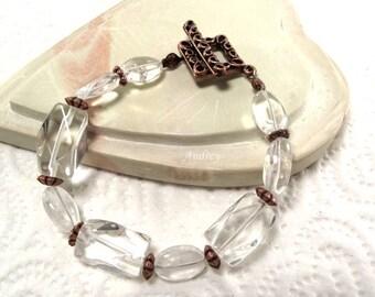 Quartz Bracelet - So Clearly Crystal and Copper Bracelet