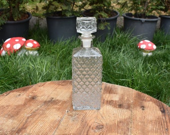 Old Carafe, Old Glass Carafe, Glass Bottle for Cognac/Liquor/Whiskey