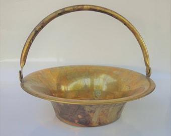 Vintage Solid Brass Basket