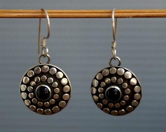 Vintage Sterling Silver Balinese Dangle Earrings