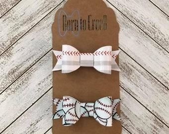Baseball canvas bow 2 pack