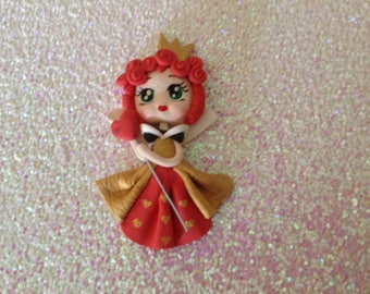 Queen of hearts Polymer Clay Figure