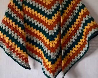 boho autumn shawl
