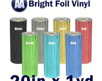 "Prisma Heat Transfer Bright Foil Vinyl for T-shirts 20"" x Yard"