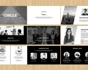 Powerpoint Presentation Template , Instant Download - V01