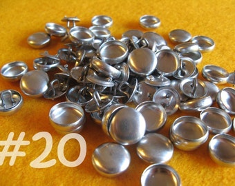 Sale - 100 Cover Buttons - 1/2 inch - Size 20 wire backs/loop backs covered buttons notion supplies diy refill