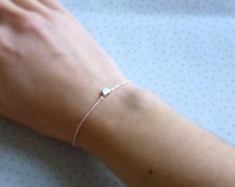 Little Heart Silver Bracelet with Tiny Heart Charm