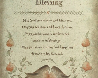 Irish Blessing Proverb prints by Donna Atkins - Choose from Marriage, Christening, Inspirational and more