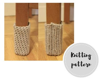 Chair socks PDF pattern - knit and crochet versions