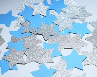 Twinkle Twinkle Little Star Confetti, Baby Shower Decorations,Star shape decorations, party decoration, baby boy party decorations, blue