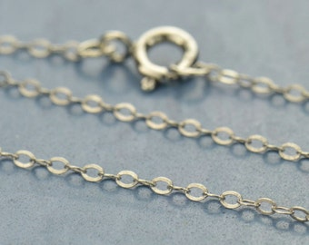 """18"""" Sterling Silver Finished Chain"""