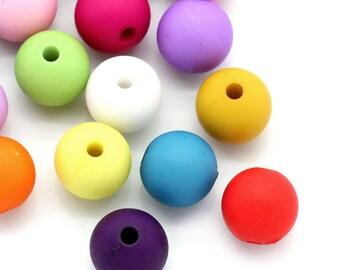 PA34 set of 30 acrylic beads 10mm