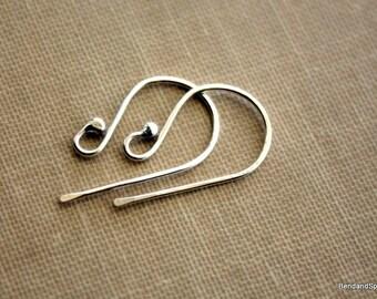 Earring Hooks, Sterling Silver Earring Hooks, Artisan Jewelry Findings