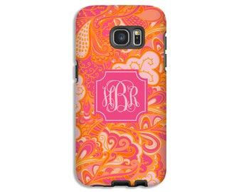 Monogram Galaxy S8 case/S8 Plus case, boho Galaxy Note 8 case, Galaxy S7 case, Galaxy S7 Edge case, Galaxy S6 case, Samsung Galaxy case