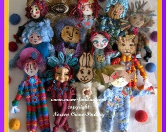 PDF Pattern for Small Dolls woven with 4 sticks on the  stick weaving loom