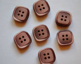 set of fancy buttons square resin