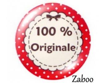 2 cabochons 20mm glass, 100% original, Red