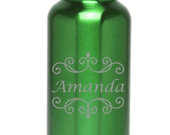 Personalized Water Bottle Stainless Steel Water Bottle Custom Engraved Water Bottles BPA Free Name Design-Eco-friendly Wedding Gift