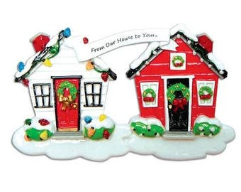 Home Ornament  From Our House To Yours Ornament  Christmas Home  Personalized Christmas Ornament