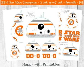 BB-8 Star Wars Centerpieces - BB8 centerpieces - Star Wars centerpieces - Star Wars party - Star Wars The Last Jedi centerpieces