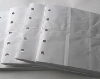 6X6 SEWN  paper bag scrapbook albums\/piecing- 4 WHITE books