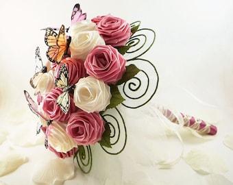 Garden Party, Wedding Bouquet, Bridal Bouquet, Butterfly Bouquet, Spring Rustic Weddings, Origami Wedding